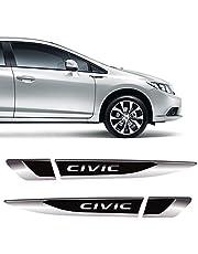 Par De Aplique Lateral New Civic G9 G10 Emblema Resinado
