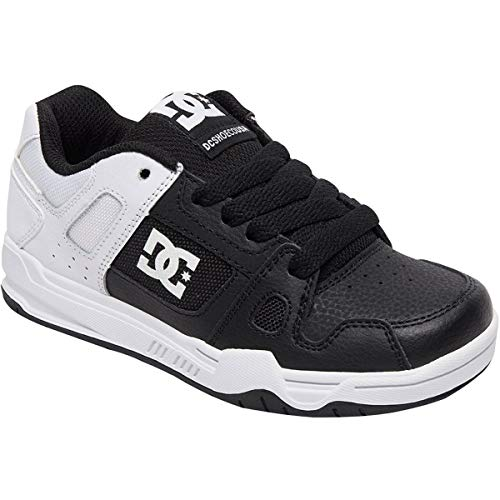 DC Boys' STAG Sneaker, Black/White Fade, 11 M M US Little Kid