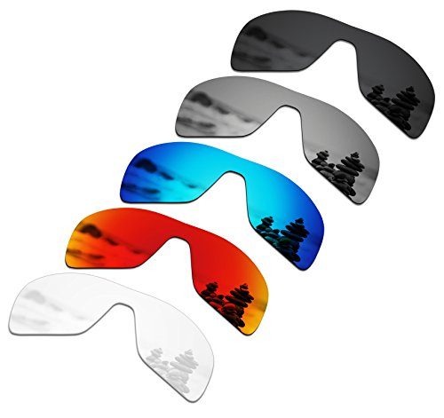 56eaea51a0 SmartVLT Set of 5 Men s Replacement Lenses for Oakley Turbine Rotor  Sunglass Combo Pack S01