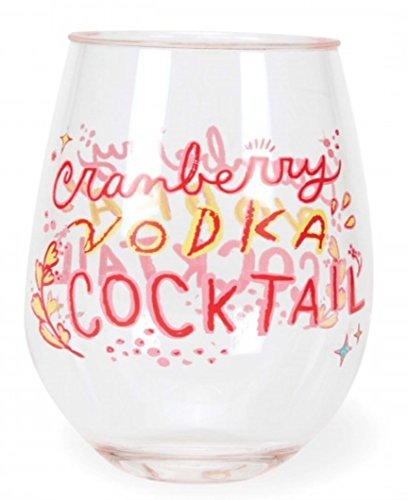 C.R. Gibson Acrylic Stemless Wine Drinkware (Cranberry Vodka)