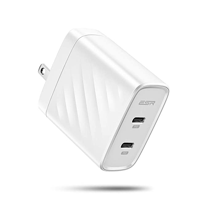 promo code ab020 bb090 ESR USB-C Charger, 36W Dual Port Power Delivery Wall Charger for iPhone  Xs/XS Max/XR/X/8/8 Plus, Samsung S10/S10+/S10e/S9/S9 Plus/S8/S8 Plus, iPad  Pro ...