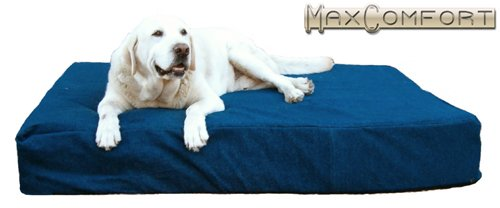 ComfortMax Memory Foam Orthopedic Dog Beds 30″ x 48″ x 6″ Large RED Microfiber For Dogs Over 100 Lbs For Sale