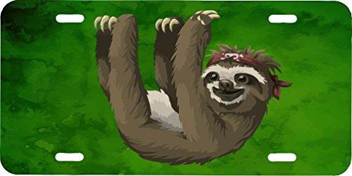 Sloth License Plate -