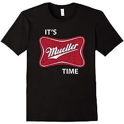 Mens Anti Trump 2017 It's Robert Mueller Time Funny Gift T-Shirt Large Black
