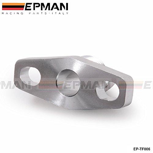 Turbo de aluminio aceite retorno/drenaje Brida Adaptador AN10 Garrett GT28 GT30 GT35 T25 ep-tf006: Amazon.es: Coche y moto