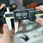 Mitutoyo 500-196-30 Advanced Onsite Sensor (AOS) Absolute Scale Digital Caliper, 0 to 6″/0 to 150mm Measuring Range, 0.0005″/0.01mm Resolution, LCD