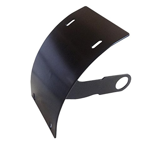 ALPHA MOTO Motorcycle Curved License Plate Holder Vertical Mount Billet Black 1
