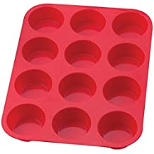 Sorbus SIL-CCPAN 12 Cup Silicone Muffin Cupcake Baking Pans