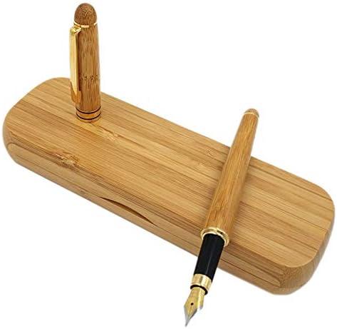 Nrpfell Pluma Estilográfica de Bambú Elegante Vintage Con Caja Para Regalos de Empresa Marca de Lujo Bolígrafos de Escritura de Oficina: Amazon.es: Oficina y papelería