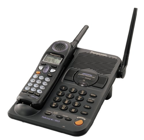 Panasonic KX-TG2235B 2.4 GHz Digital Cordless Speakerphone with Talking Caller ID and Dual Keypads by Panasonic