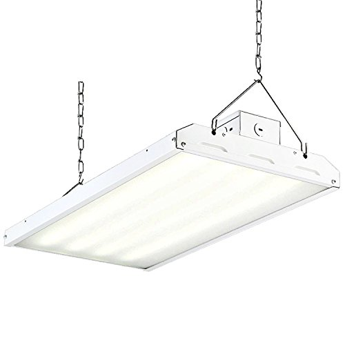Hykolity 2FT Linear LED High Bay Light, LED Shop Light Fixture 110W 14300lm 0-10V dimmable 5000K DLC Premium [400W Fluorescent Equiv.] Motion Sensor Optional, Indoor Commercial Warehouse Area Light - Bay Lighting Fixture