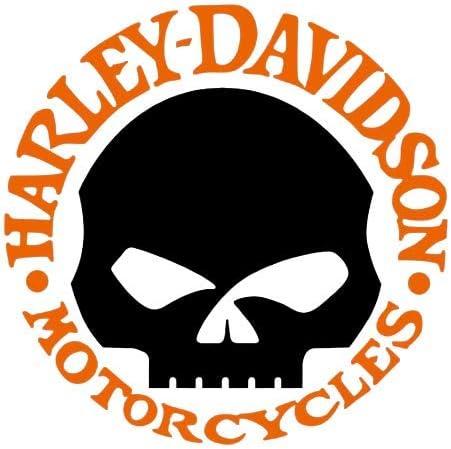 Retroreflektierende Aufkleber Für Motorradhelm Harley Davidson Skull Orange Auto