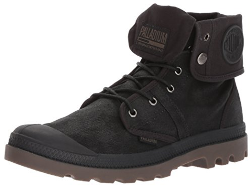 Palladium Men's Pallabrouse BGY Wax Chukka Boot, Black/Dark Gum, 10 M US by Palladium