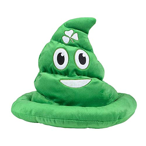 - Saint Patrick's Day Emoticon Poop Hat - Green Poop Smile Hat - Perfect for Costumes, Fashion Shows - for Kids and Adults Alike