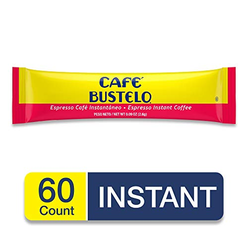 Café Bustelo Espresso Instant Coffee, 6 Single Serve Packets (Pack of 12)