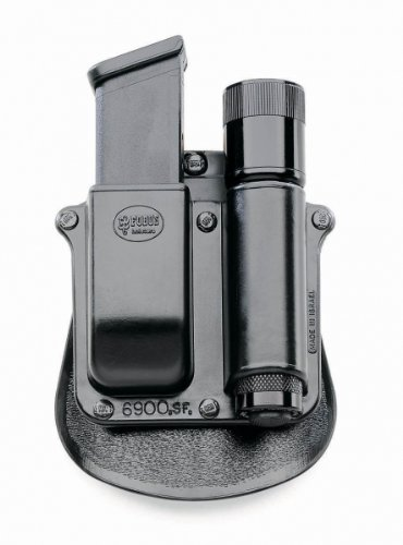 Fobus Paddle Combo Mag Pouch/Light SF6900PMP Any 1-Inch Diameter Flashlight and Double Mag S&W M&P 9mm/.40 Cal