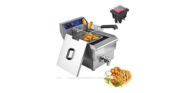 Amazon.com: belovedkai freidora eléctrica,/cubeta acero ...