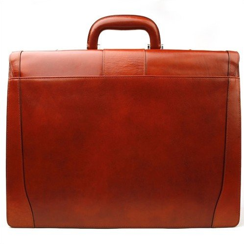 Old Leather Laptop Briefcase Color: Cognac by Bosca