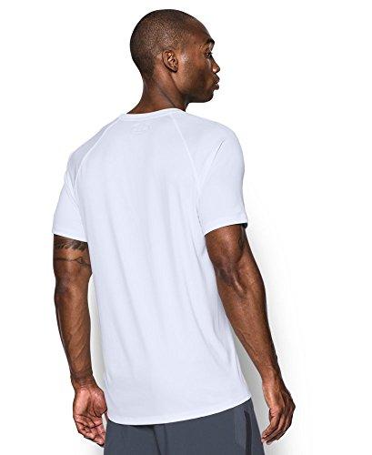 Under Armour Men's HeatGear Run Short Sleeve T-Shirt, White /Reflective, Small by Under Armour (Image #1)