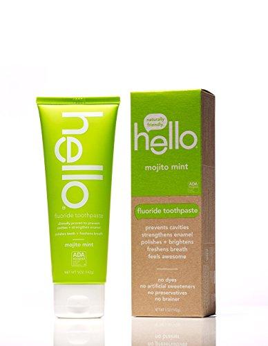 Hello Oral Care Fluoride Toothpaste, Mojito Mint, 5 Ounce