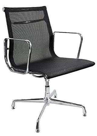 eames style office chairs. Beautiful Office CHARLES EAMES STYLE BLACK MESH OFFICE CHAIR WGLIDES With Eames Style Office Chairs