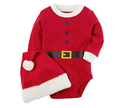 Carter's Baby 2 Piece Santa Bodysuit And Hat Set 6 Months