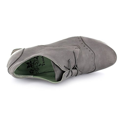 mujer para gris Nana Gris de cordones de Piel KRED Think Zapatos SPYp0qZwSH