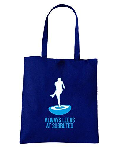 T-Shirtshock - Bolsa para la compra WC0179 ALWAYS LEEDS AT SUBBUTEO Azul Marino