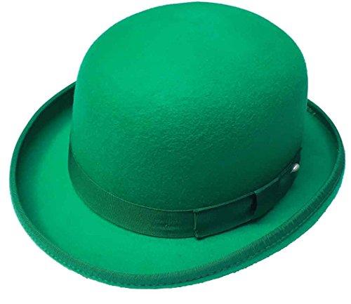 Capas St Patrick's Day Wool Felt Satin Lined Derby Hat, Green, (Patricks Day Derby Hat)