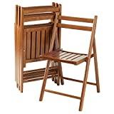 Winsome Wood 33415 Robin 4-PC Folding Set Teak Chair