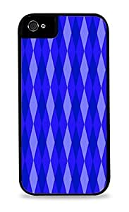 Cool Blue Diamonds Black Silicone Case for iPhone 5C