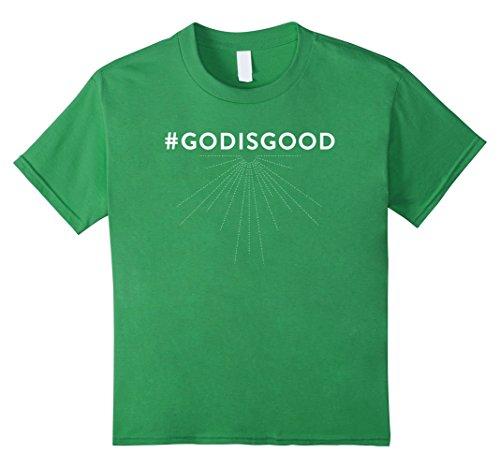 Kids #GODISGOOD T-Shirt - Christian Faith Hashtag God Is Good T-S 8 Grass