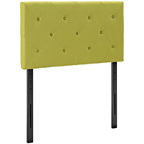 Terisa Twin Fabric Headboard, Wheatgrass