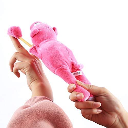 AMZER Slingshot Flingshot Flying Screaming Pink Pig Plush Toy