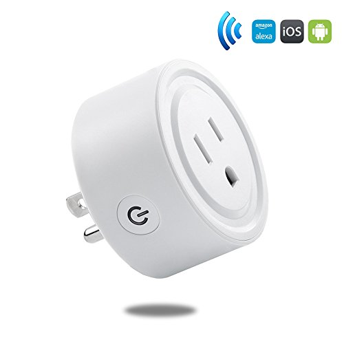 Wifi Mini Smart Plug,ZeroLemon Wifi Socket Outlet Compatible with Alexa, Remote Control Your device From Anywhere, Electrical Power Switch for Household Applicances, No Hub Required - White by ZEROLEMON