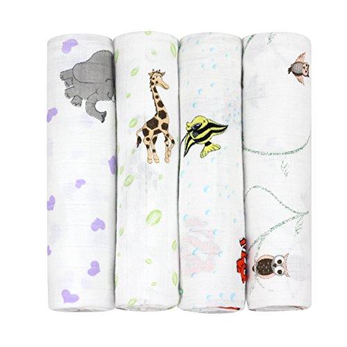 - j & alex's 100% Cotton Muslin Swaddle Blankets in