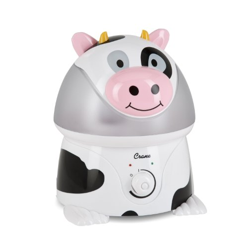 Crane Adorable Ultrasonic Cool Mist Humidifier with 2.1 Gallon Output per Day - Cow