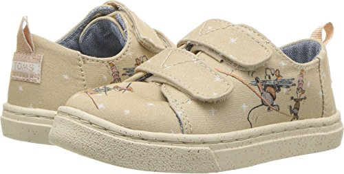 TOMS Kids Baby Girl's Lenny Disney¿ Princesses (Infant/Toddler/Little Kid) Taupe Gus & Jaq Printed Canvas 7 M US Toddler M