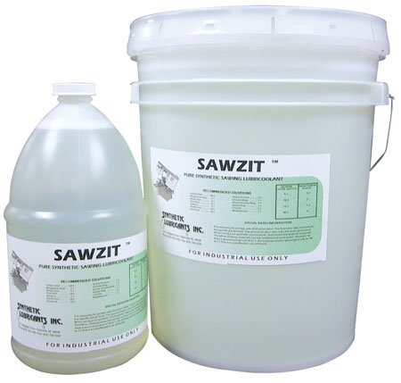 5 Gal. Pail, Sawzit The Remarkable Transparent, Pure Synthetic Sawing Lubricoolant (1 Each)