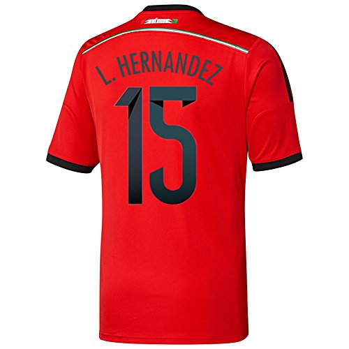 辞任する有名人保安Adidas L. HERNANDEZ #15 Mexico Away Jersey World Cup 2014/サッカーユニフォーム メキシコ アウェイ用 背番号15 L.エルナンデス