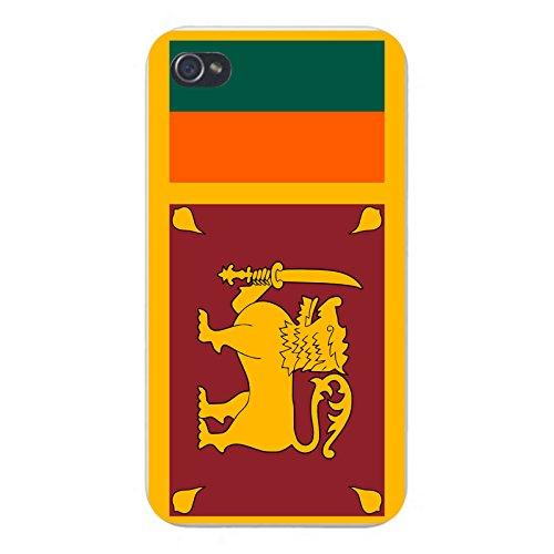 Sri Lanka Buddhist Flag (Apple iPhone Custom Case 5 / 5S White Plastic Snap On - World Country National Flags - Sri Lanka)