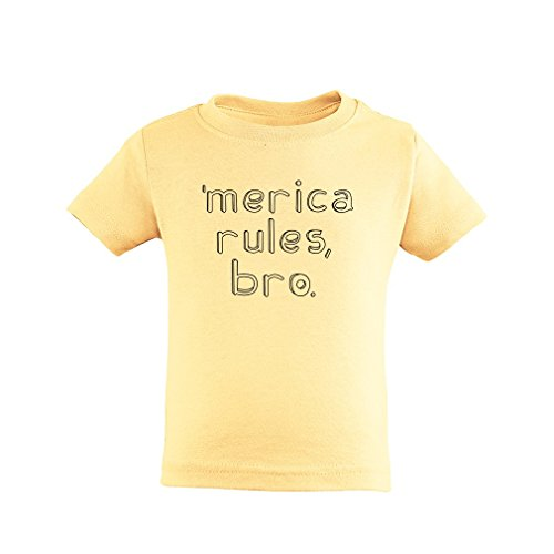 [Apericots Merica Rules Bro Funny Short Sleeve Toddler Tee Shirt] (Trailer Trash Outfits)