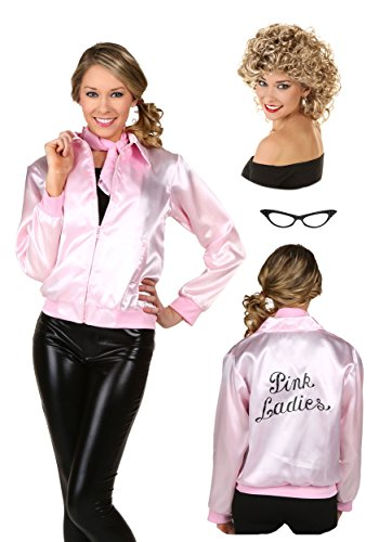 [Fun Costumes Womens Pink Ladies Jacket Package] (Pink Lady Grease Costumes)