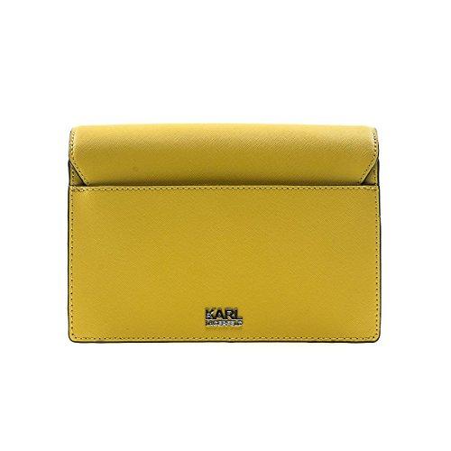 Karl Lagerfeld Borsa A Spalla Pelle Saffiano Giallo Signature Size : Unica