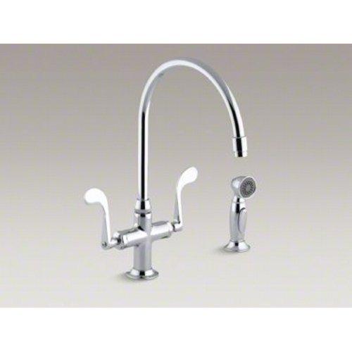 KOHLER K-8763-CP Essex Kitchen Sink Faucet, Polished