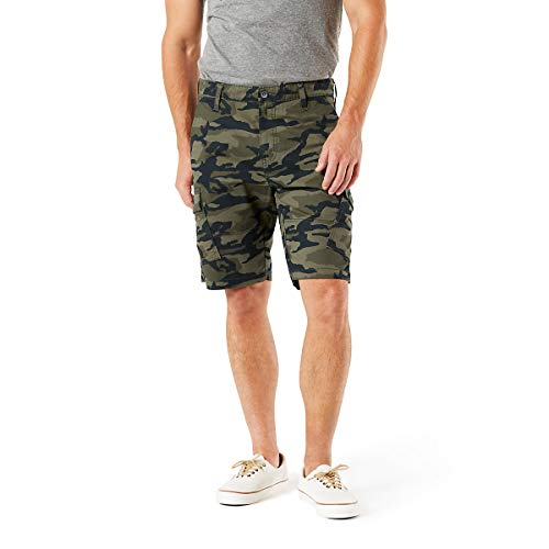 (Signature by Levi Strauss & Co. Gold Label Men's Straight Fit Cargo Shorts, Vintage Camo, 42 )