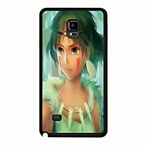 Beautiful Princess Mononoke Phone Case For Samsung Galaxy Note 4 Eye-catching Princess Mononoke