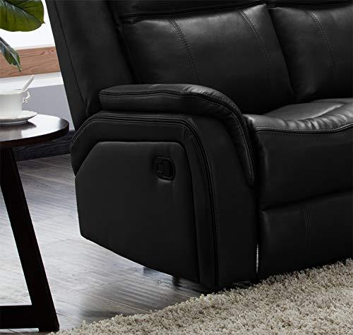 Black Leather Corner Sofa Ebay: Hartfordshire Large Leather Black Reclining Corner Sofa