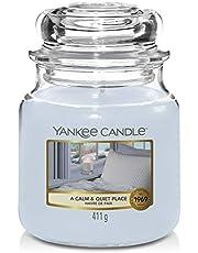 Yankee Candle Świeca zapachowa w szkle (średniej wielkości) | A Calm & Quiet Place | czas palenia do 75 godzin
