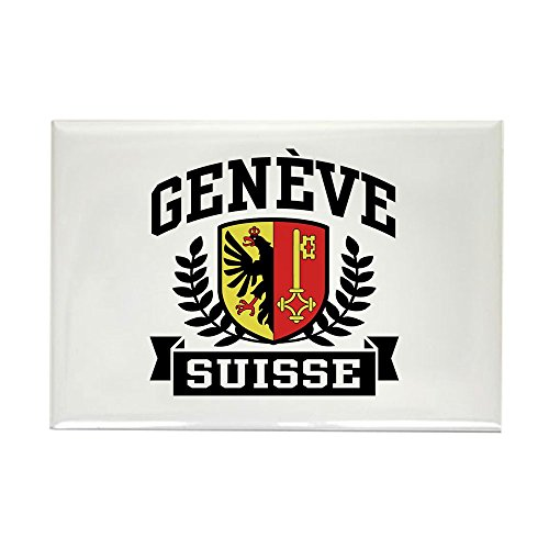 Geneva Buttons - CafePress Geneve Suisse Rectangle Magnet Rectangle Magnet, 2